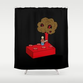 Construct and Destroy Shower Curtain