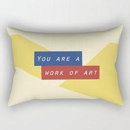 Modern geometric minimalist typography - You are a work of art Rectangular Pillow