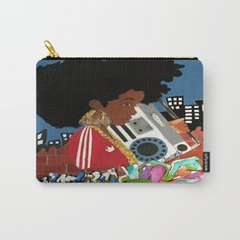 Old school Afro Carry-All Pouch