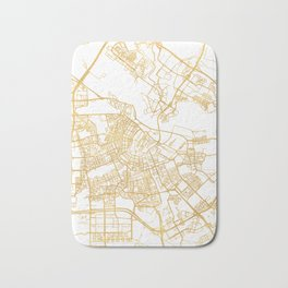 AMSTERDAM NETHERLANDS CITY STREET MAP ART Bath Mat