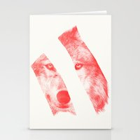 eric fan Stationery Cards featuring Red - by Eric Fan and Garima Dhawan  by Eric Fan