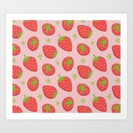 Strawberry Indulgence Art Print