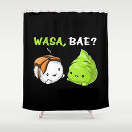 Sushi Wasabi Cute Couple Wasa Bae Shower Curtain