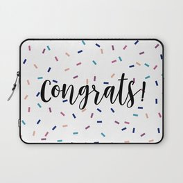 Congrats Sprinkles Laptop Sleeve