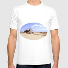 dust in the wind MEDIUM White Mens Fitted Tee