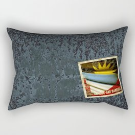Grunge sticker of Antigua and Barbuda flag Rectangular Pillow