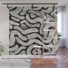 Haring inspire, Abstract, White & Black Wall Mural