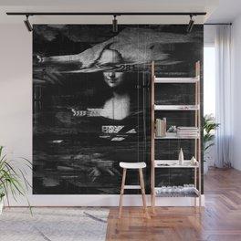 Mona Lisa Glitch Wall Mural