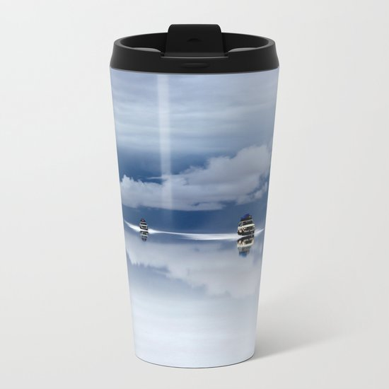 Traveling through the sky Metal Travel Mug