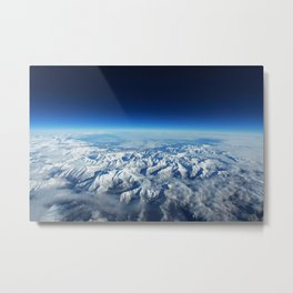 Pyrenees from plane Metal Print