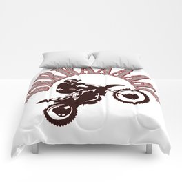 Brrraaaaap Red Checkered Flag Moto Language Comforters