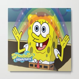 spongebob squarepants,cartoon,patrick,Squidward,sandy,Mr. Krabs Metal Print