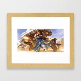 Captain ROSINI GHOSH - Strike Team NEXUS Framed Art Print