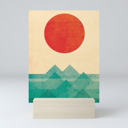 The ocean, the sea, the wave Mini Art Print