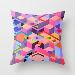 Isometric Chaos Throw Pillow