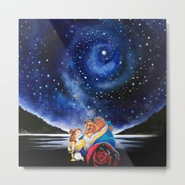 BEAUTY AND THE BEAST - STARRY NIGHT Metal Print