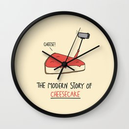 The Modern Story of Cheesecake Wall Clock