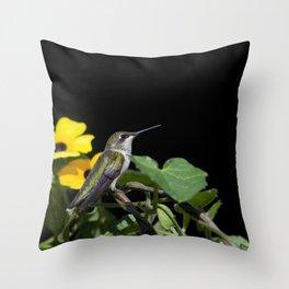 Green Garden Jewel Throw Pillow