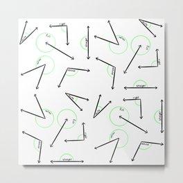 Learn Your Angles Metal Print