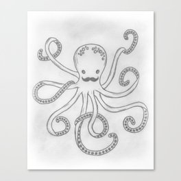 Hipster Octopus Canvas Print