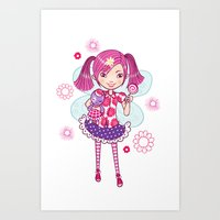 Lollipop Fairy Art Print