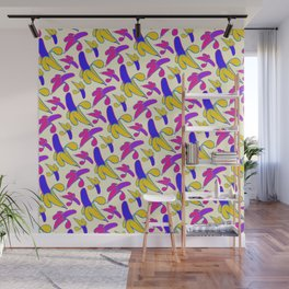 Berry Berry Nanners - Pink and Yellow Wall Mural