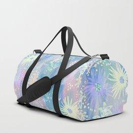 Eden Floral Pastel Blue Duffle Bag