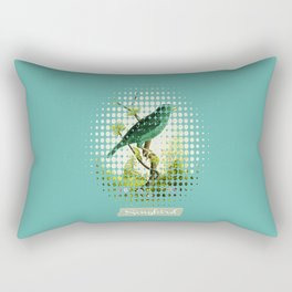 Songbird {Jade} Rectangular Pillow