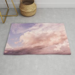 Perfect Pink Summer Sky Nature Photography Rug