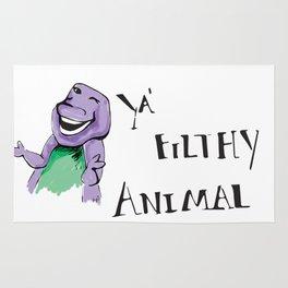 Barney Ya' Filthy Animal  Rug