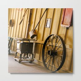 Wagon Wheel and the Olden Days Metal Print