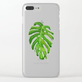 Monstera leaf Clear iPhone Case