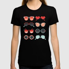 Sunglasses Collection – Red & Mint Palette T-shirt