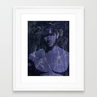 leather Framed Art Prints featuring Leather by Azure Cricket