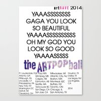 artrave Canvas Prints featuring artRAVE 2014 by RickyRicardo787