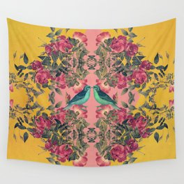 Love Birds II (yellow version) Wall Tapestry