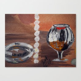 """Thumbnail of the painting """"White beads"""" #1 Canvas Print"""