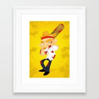 shaun of the dead Framed Art Prints featuring Shaun of the Dead by Mike Spiers Art Store