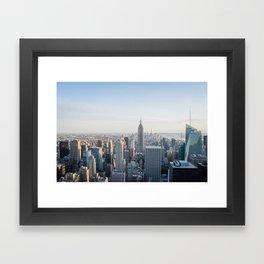 Towers - City Urban Landscape Photography Framed Art Print