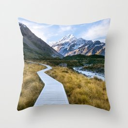 Mt.Cook New Zealand - A hikers dream Throw Pillow