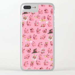 Rosa the Pig Pattern Clear iPhone Case