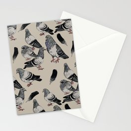 Pigeon Pattern Stationery Cards