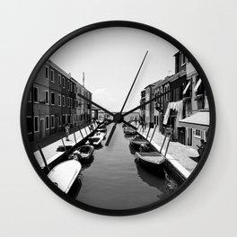 Burano Murano Black & White Wall Clock