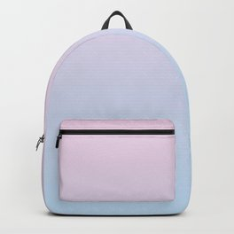 Pastel Ombre Millennial Pink Blue Gradient Pattern Backpack