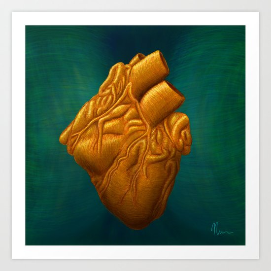 His Heart of Gold - painting Art Print