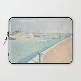 Georges Seurat - The Channel of Gravelines Laptop Sleeve
