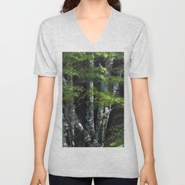 Birch forest Unisex V-Neck