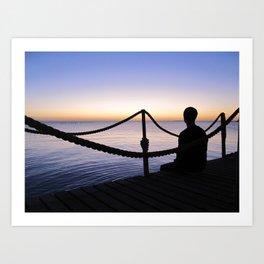 Red Sea Sunrise Art Print