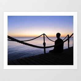 Red Sea Sunrise Art Print