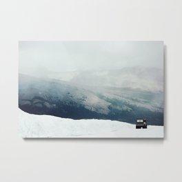 Mountains in Monochrome Metal Print